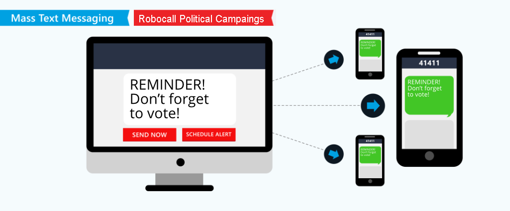 Mass text messaging in political campaigns